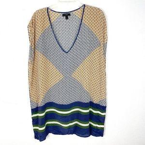 J. Crew 100% silk tunic blouse top caftan style